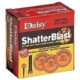 Daisy Shatterblast Breakable Refill Target 2' Disks (60 Pack), Hunter Orange