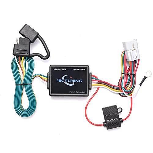mictuning 7ft trailer wiring harness with 4-pin flat connector for subaru  forester outback wagon