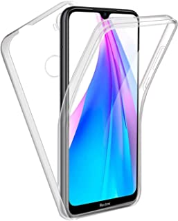 Mylne Case for Xiaomi Redmi Note 8T,360°Full Body Hard PC Back and Soft Silicone Tpu Front Integrated Transparent Slim Ultra-Thin Cover Case for Xiaomi Redmi Note 8T
