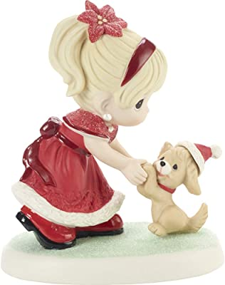 Precious Moments Girl Dancing with Puppy Figurine, Multi