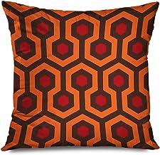 "TETUDA Throw Pillow Cover Square 20""x20"" The Shining Overlook Redrum Hotel Carpet Modern Retro Hexagon Geometric Trellis P..."
