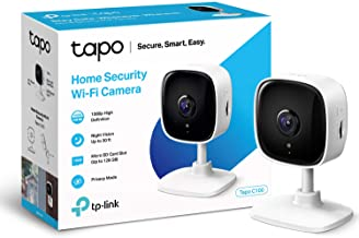 TP-LINK Tapo Mini Smart Security Camera, Indoor CCTV, Compatible with Alexa & Google Home, No Hub Required, 1080p, 2-Way A...