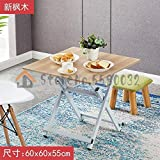 8HAOWENJU Mesa de Comedor Plegable Tabla Inicio Dos Personas Cuatro Personas Simple Portable al Aire Libre Puesto Plazoleta Mesa de Comedor (Color : Style 11)