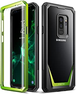 Galaxy S9 Plus Case, Poetic Guardian [Scratch Resistant Back] [360 Degree Protection]Full-Body Rugged Clear Hybrid Bumper Case with Built-in-Screen Protector for Samsung Galaxy S9 Plus Green