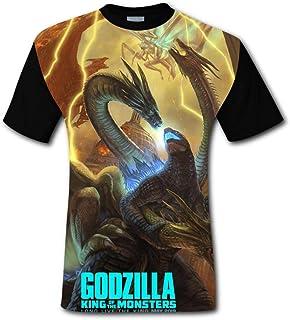Godzilla 2 King Monsters Poste Short Sleeve Crew Neck T Shirt for Mens
