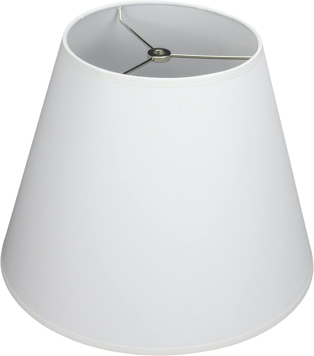 Fenchelshades Com Lampshade 8 Top Diameter X 14 Bottom Diameter X 11 Slant Height With Washer Spider Attachment For Lamps With A Harp White