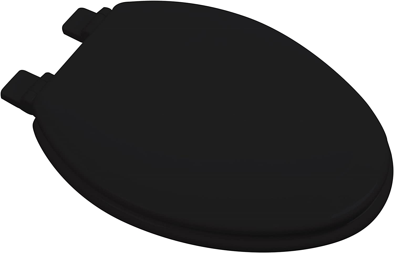 Bath Décor 1F1E7-90 Very Max 89% OFF popular Premium Molded Toilet BLACK Wood Seat