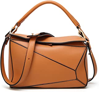 Beatfu Designer Top Handle Handbag for Women, Pillow Crossbody Shoulder Bag Geometric Handbag Puzzle Bag