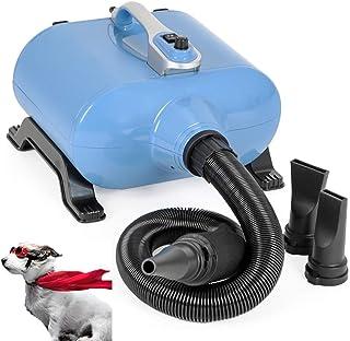 ZOUJUN Secador de pelo, secador de pelo for perros y gatos Temperatura de diseño silencioso Regulación de velocidad continua de bajo ruido, con manguera de extensión, sistema de calefacción, 3 boquill