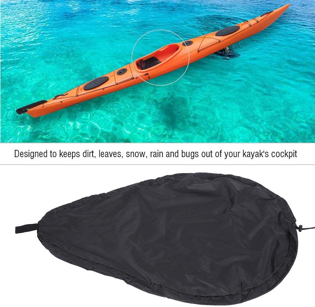 Black UV50 Bnineteenteam Universal Kayak Cockpit Cover Blocking Kayak Seal Cockpit Protector for Indoor and Outdoor