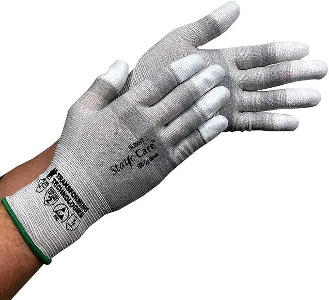 Size 12 Polyurethane Coated Gloves Cut Level A2 Touch Screen Salt and Pepper Basics Cut Resistant Work Gloves XXXL