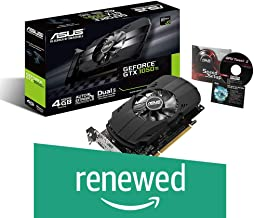 ASUS Geforce GTX 1050 Ti 4GB Phoenix Fan Edition DVI-D HDMI DP 1.4 Gaming Graphics Card (PH-GTX1050TI-4G) Graphic Cards (R...