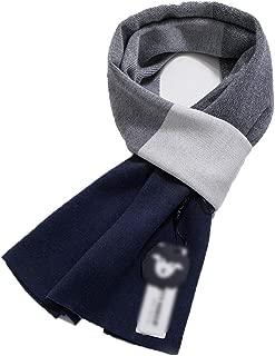 Scarves Scarf Scarves Men's Scarf Winter Wool Scarf Fashion Plaid Scarf (Color : Blue, Size : 180 * 30cm)