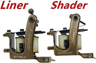 Thomas Custom Tattoo Machine Gun Handmade Brass Frame (Liner&Shader)