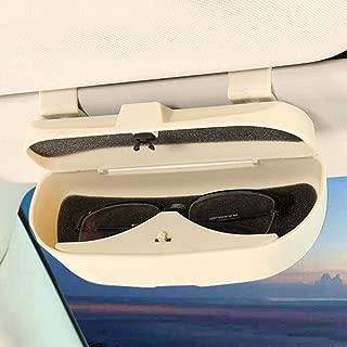 SUNXIN Brillenhalter f/ür Auto Sonnenblende Schwarz Sonnenbrillen Brillen mit Kartenkarten Clip