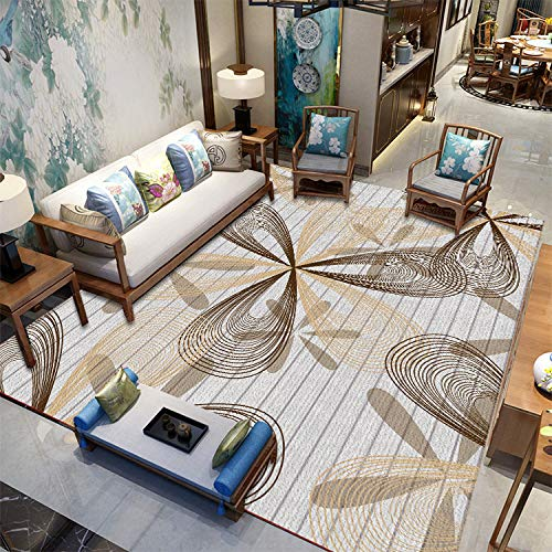 MLKUP Home Nordic Style Living Room Carpet Model Room Display Carpet 3D Printed Carpet 170x240cm