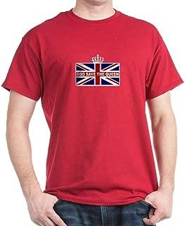 God Save The Queen Dark T Shirt 100% Cotton T-Shirt Cardinal