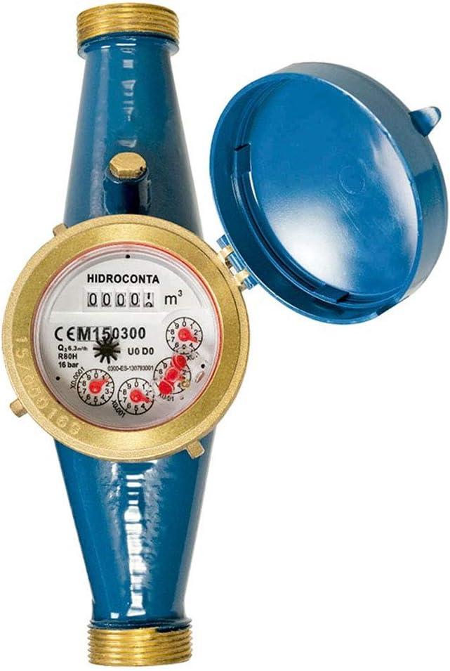 Contador de agua 25mm de chorro único esfera seca/Certificado MID Europeo que permite el uso con agua potable/Rosca entrada y salida 1 1/4