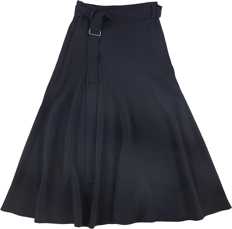 MaxMara Womens Belted Maxi Skirt