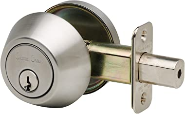 Copper Creek DB2410SS Standard Duty Single Cylinder Deadbolt in SS Finish