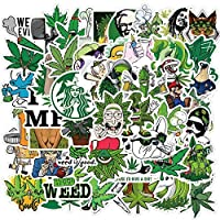 🌿There are 50 different weed stickers 🌿Each is about 2-2,5 inches. You will receive the pattern seen in the picture. 🌿Best gift: when choosing gifts for friends and children, our various doodle stickers are the right choice for you. 🌿Suitable for lap...