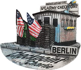 Checkpoint Charlie Berlin Germany Fridge Magnet Resin 3d City Trip Travel Souvenir Collection Sticker