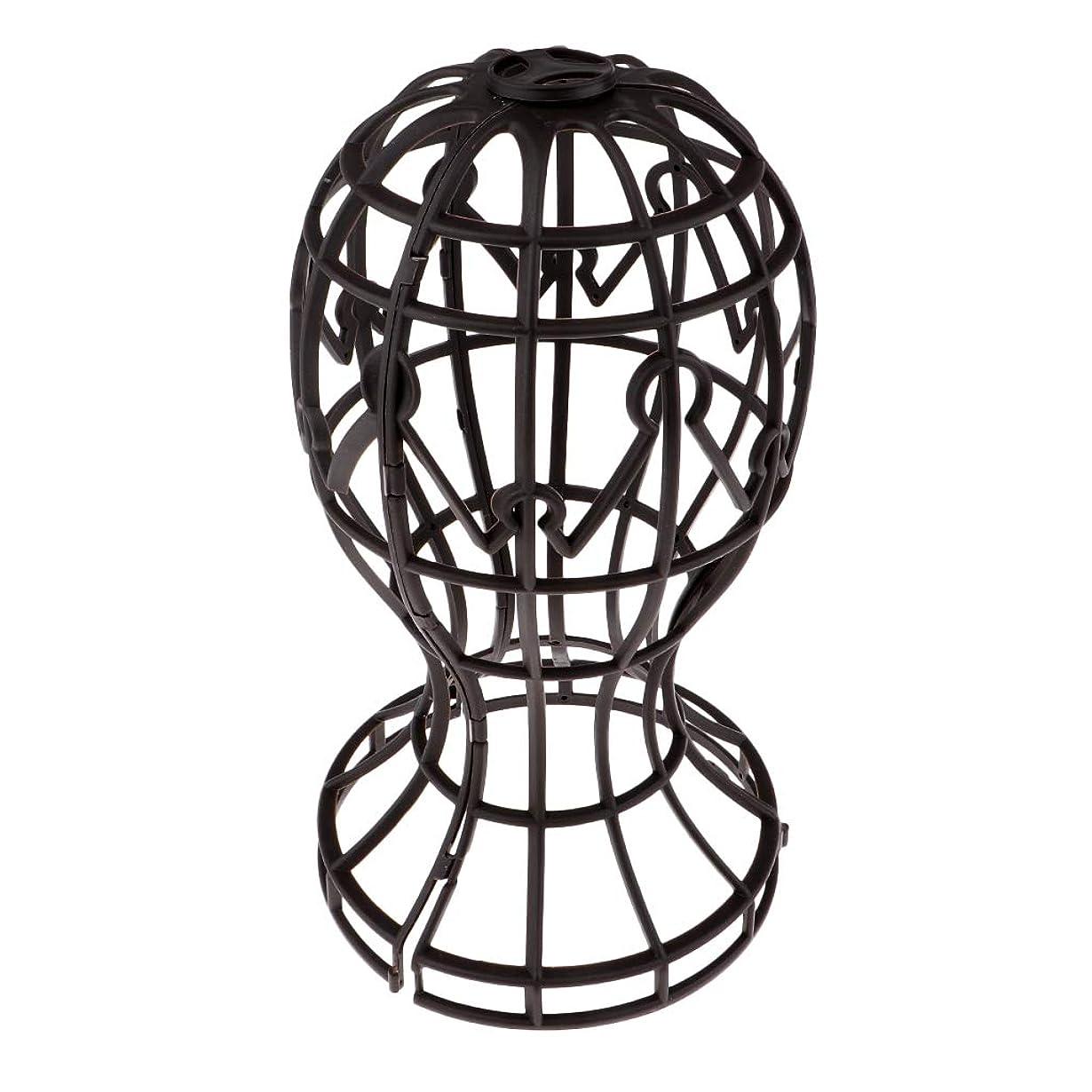 メンター男らしさパイSharplace かつらホルダー 髪型スタンド ウィッグスタンド 省スペース 帽子 ディスプレイ 高さ約31cm - ブラウン
