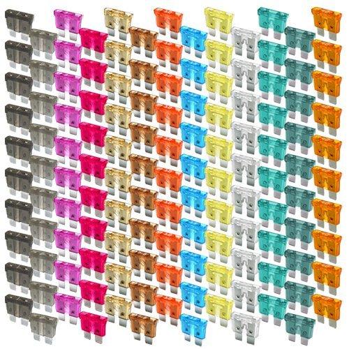K24 203481 Set: Flachstecksicherungs-Mix-130-teilig-KFZ Sicherung