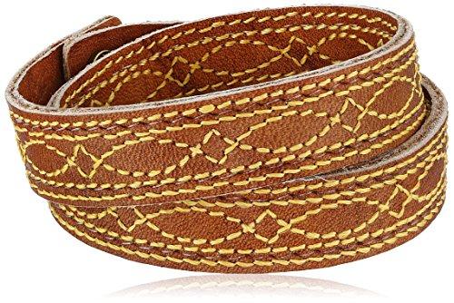 Frye Unisex Saddle Campus Stitch Dakota Leather Cuff Bracelet