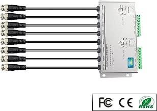 OdiySurveil(TM) 8-CH HD 720P/1080P Passive Video Balun Transceiver,RJ45 BNC UTP Cable Video Transmission for CCTV Camera DVR(Aluminium Alloy Shell)