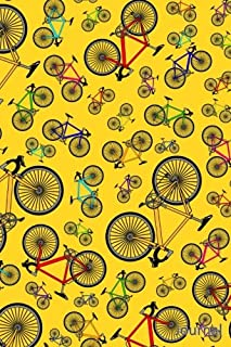 Journal: Yellow road bicycles notebook