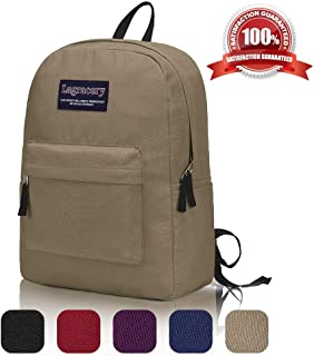 Small Basic Backpack, Unisex Classic Lightweight Computer Bag Water Resistant Daybag for Women Men