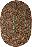 Sonya Indoor/Outdoor Oval Reversible Braided Rug, 2 by 4-Feet, Brown Multicolor