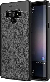 Galaxy Note 9 Case Carbon Fiber Leather Texture Design Slim Fit Ultra-Thin Premium TPU Full-Body Protective Anti-Scratch Shock Proof Dust Lightweight Phone Cover Compatible with Samsung Galaxy Note 9
