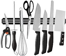 SHOPPERWORLD™ Magnetic Knife Bar, Magnetic Knife Storage Strip, Magnet Kitchen Knife Holder, Knife Rack Strip Patti 13 Inch (Black)