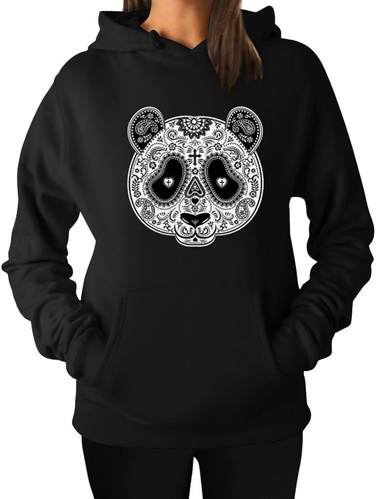 Aztec Panda Head Hoodie TeeStars Womens
