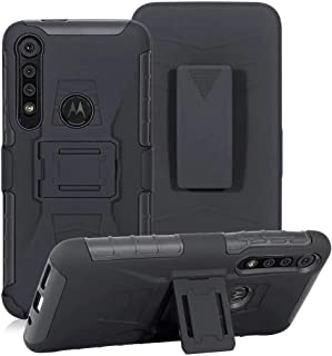 Lantier Hybrid Heavy Duty Shockproof Rugged Holster Protective Case with Kickstand and Swivel Belt Clip for Motorola Moto ...
