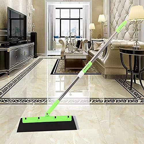 m·kvfa Magic Broom Sweeper Dust Hair Bathroom Wiper Broom Rotate Connector Rubber Tool Adjustable Long Handle Removal Pet Human Hair