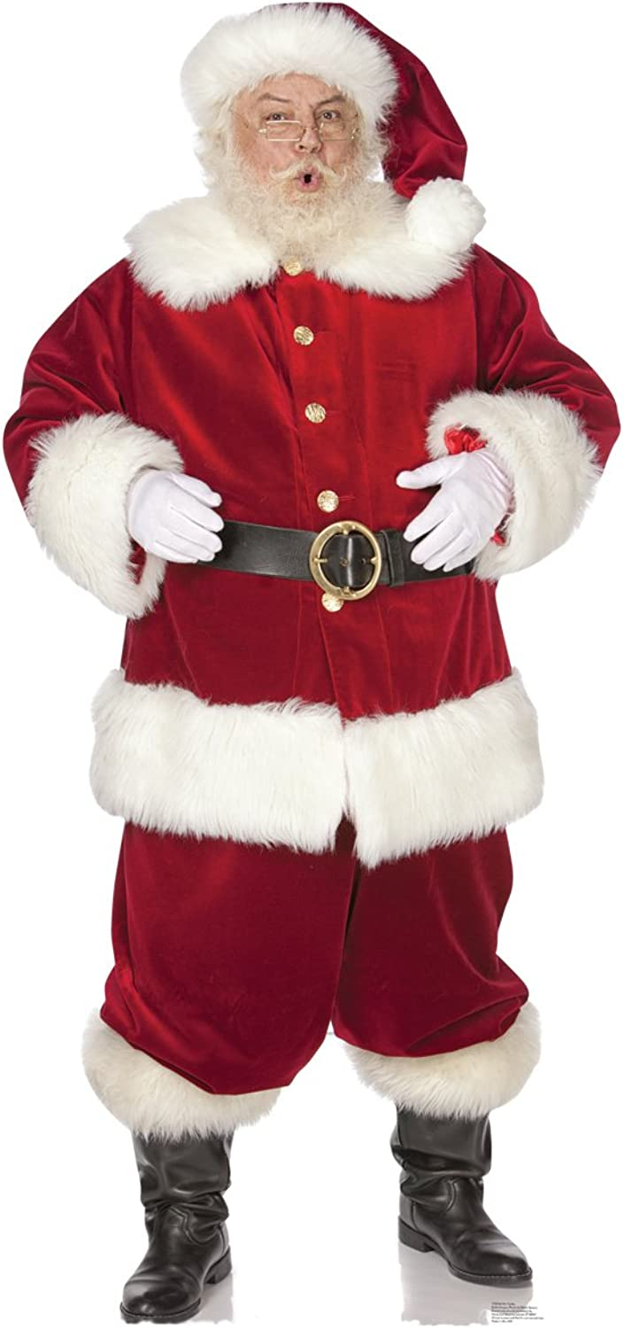 Ho  Ho  Santa - Advanced Graphics Outdoor Life Size Standup Yard Sign - For Outdoor Use