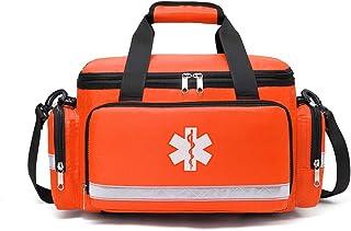کیت کمک های اولیه کیف خالی EMT فقط بزرگ برای مدرسه تجارت مسافرت لوازم پزشکی تجهیزات پزشکی اورژانس کوله پشتی پاسخ دهندگان اولین پاسخ بسته بسته پاسخ مواد دارویی سازمان دهنده ضد آب قرمز (نارنجی)
