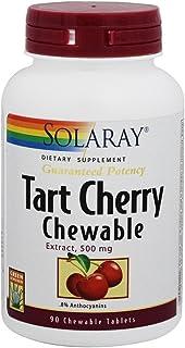 Solaray Guaranteed Potency Tart Cherry Fruit Extract, Chewable, Cherry (Btl-Plastic) 500mg   90ct