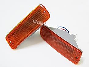 1989-1995 91 93 Front Bumper Bar Lights Lamp Orange Lens Pair for Toyota Hilux Mighty X Ln85 Pickup