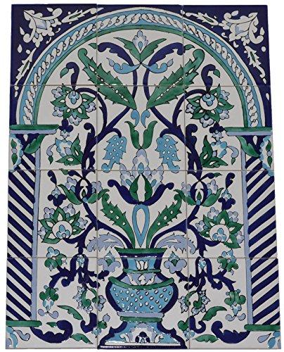 Fliesenbild Keramikfliesen Orientalisch Handbemalt Wandfliesen Mediterran 12 06