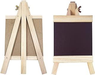 HAOLIVE Rustic Wooden A-Frame Chalkboard Sign Standing Chalkboard Tabletop Decorative Chalkboards for Vintage Decor for Kitchen, Restaurant, Bar Countertop, Wedding, and Home …