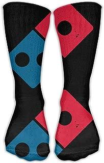 Men Women Novelty Dominos Pizza Logo Funky High Sock Athletic Crew Stocking Unisex