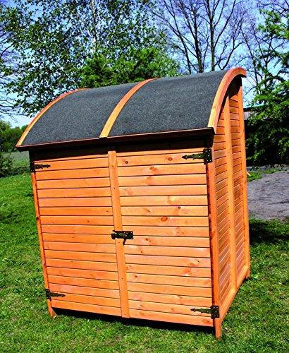 Holz-Bikeport Martin Fahrradgarage Gerätehaus Schuppen Schrank, Ausstattung:ohne Fahrradhalter