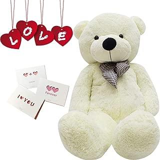 Big Cute Plush Teddy Bear Huge Plush Animals Teddy Bear Girl Children Girlfriend Valentine's Day White (24 inches, White)