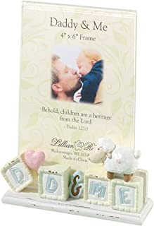 """Lillian Rose Daddy and Me Picture Frame, Little Lamb, 4"""" x 6"""""""