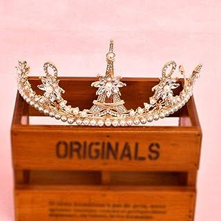 Accesorios para El Cabello De La Corona Princess Bride Retro Modelos Femeninos Golden Tower Hair Clip Simple Noble Delicado Santo Magnífica Boda