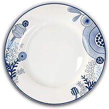 أطباق العشاء - مجموعة أواني المطبخ 26.67 سم من 6 قطع - آمنة للاستخدام في الميكروويف وغسالة الأطباق